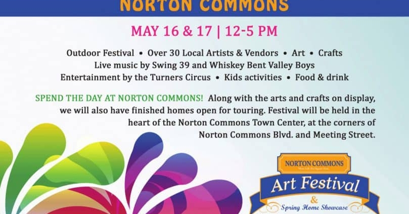 Photo of a banner for Norton Commons Art Festival and Spring Home Showcase