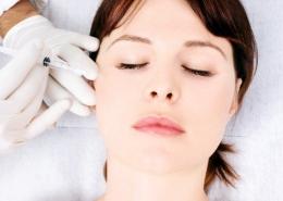 Photo of a woman having a non-invasive procedure