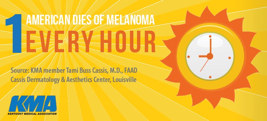 Image of a warning about Melanoma