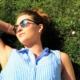 Girl laying in the sun